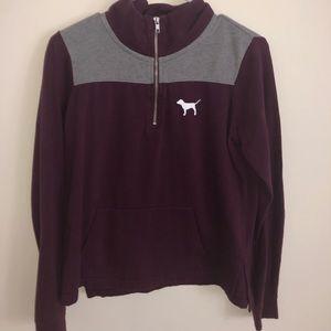 Quarter zip maroon sweater from VS
